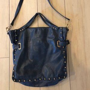 Vince Camuto distresses genuine leather hobo bag